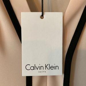 Calvin Klein Tops - Calvin Klein Tipped Split Neck Sleeveless Tank